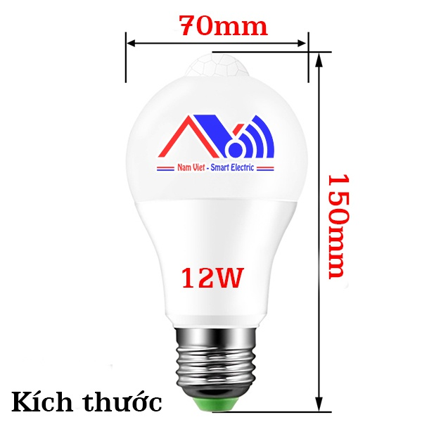 Bóng đèn cảm biến chuyển động 12W